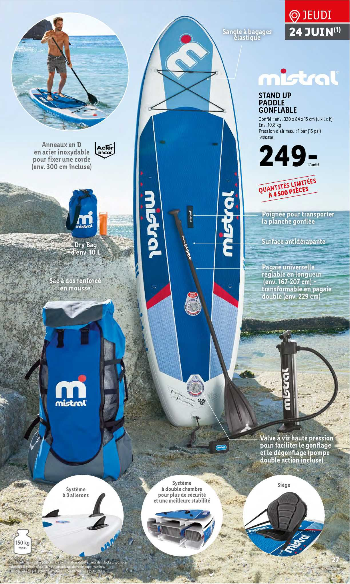 Lidl Mistral Stand Up Paddle Gonflable