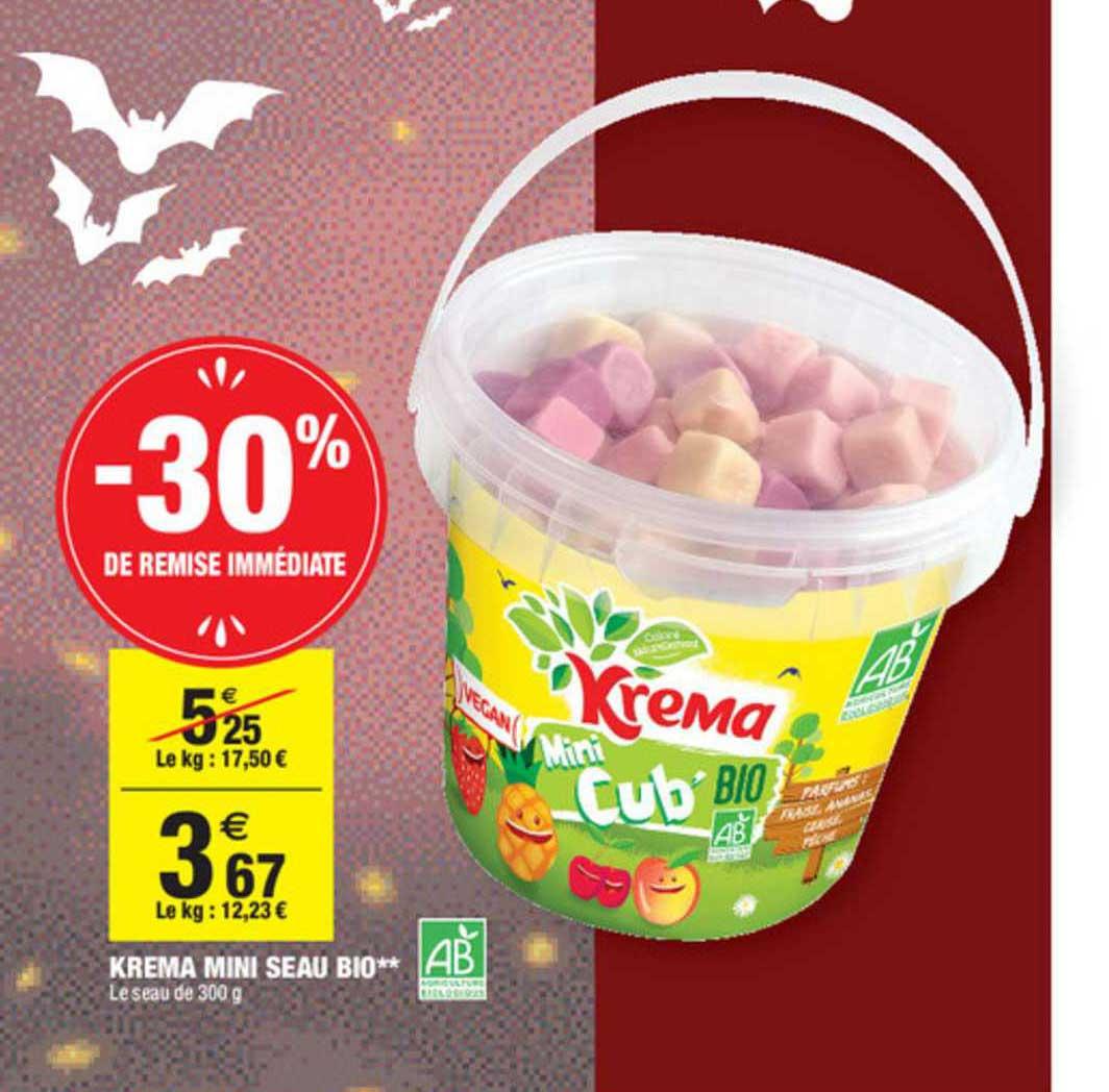 Carrefour Market Krema Mini Seau Bio -30% De Remise Immédiate