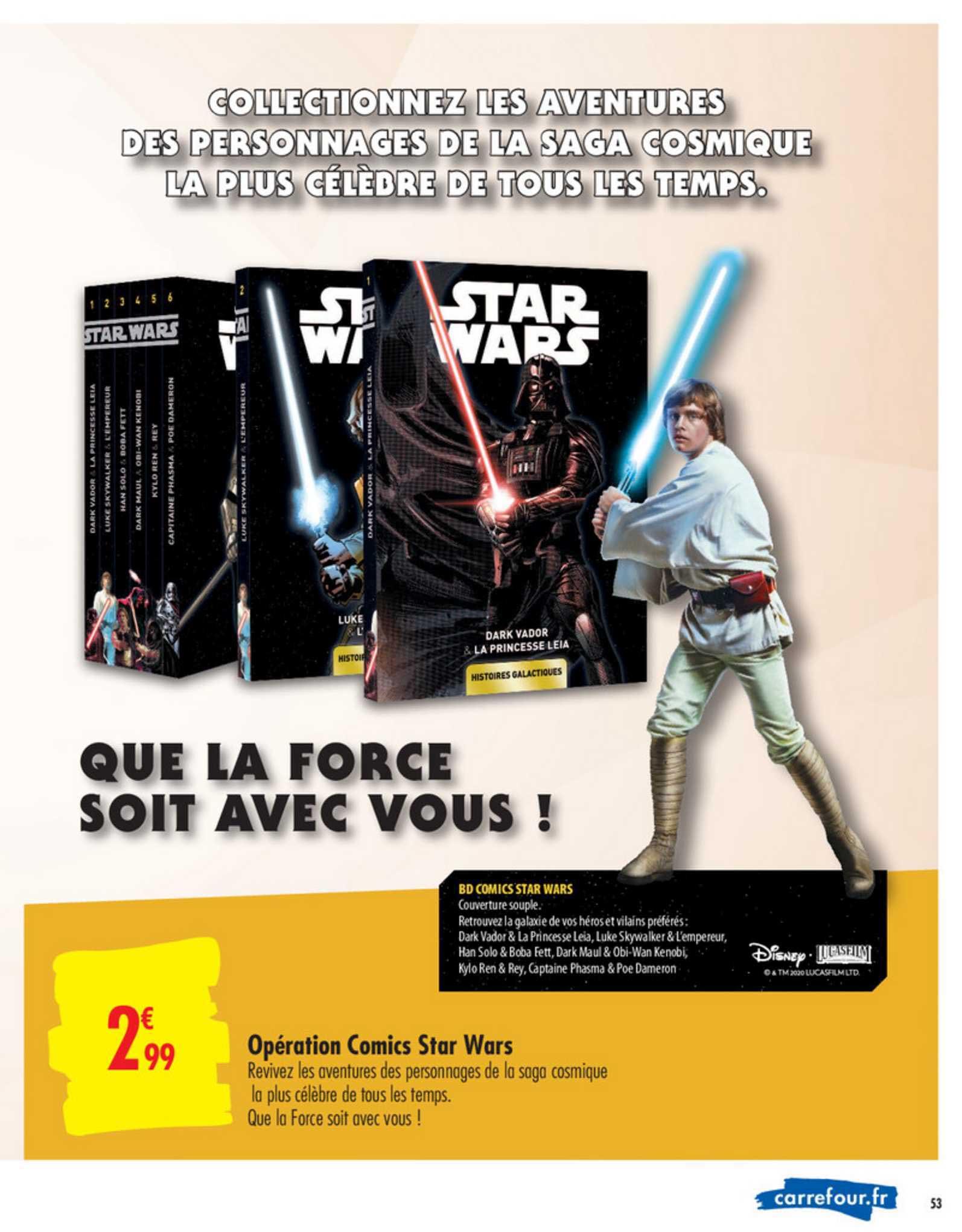 Carrefour Opération Comics Star Wars