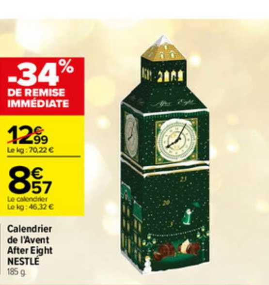 Offre Calendrier De L'avent After Eight Nestlé chez Carrefour