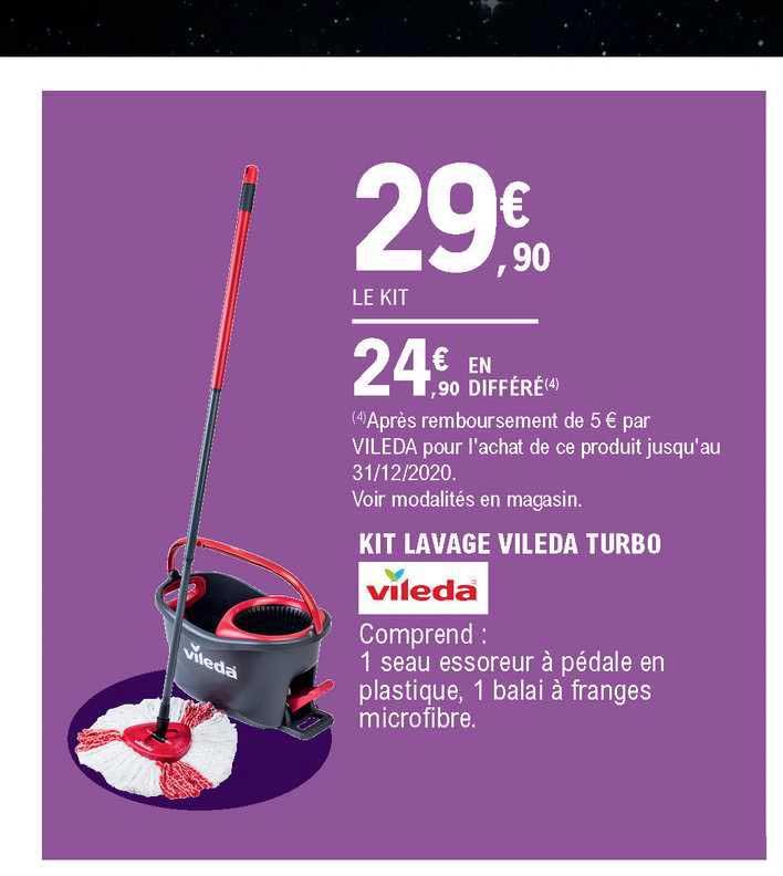 Offre Kit Lavage Vileda Turbo Vileda Chez E Leclerc