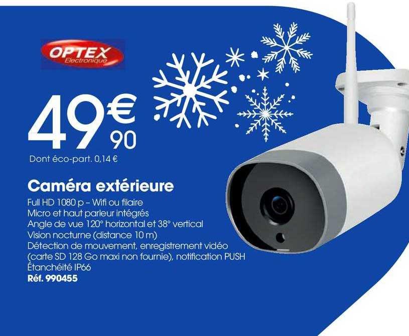 Brico Pro Caméra Extérieure Optex