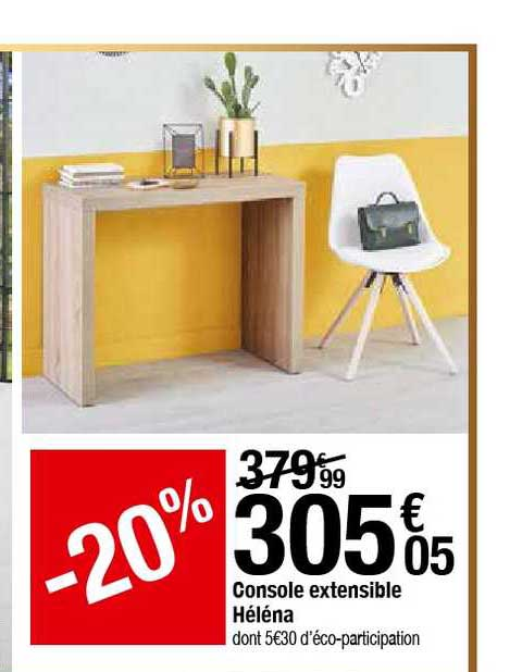 Offre Console Extensible Helena Chez But