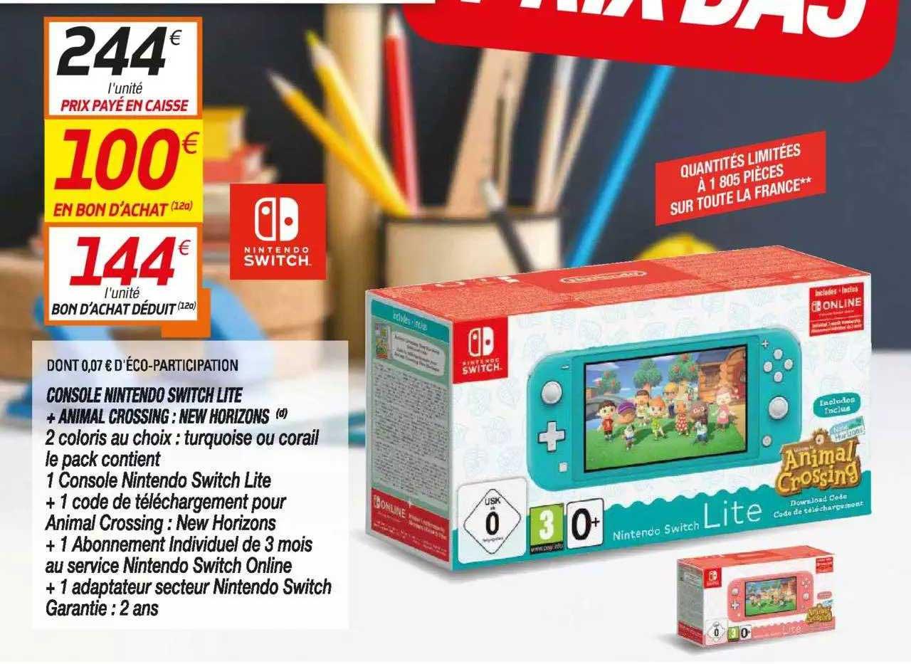Netto Console Nintendo Switch Lite + Animal Crossing : New Horizons