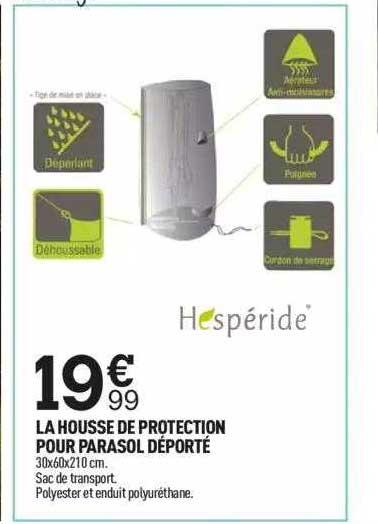 Centrakor La Housse De Protection Pour Parasol Déporté Hespéride