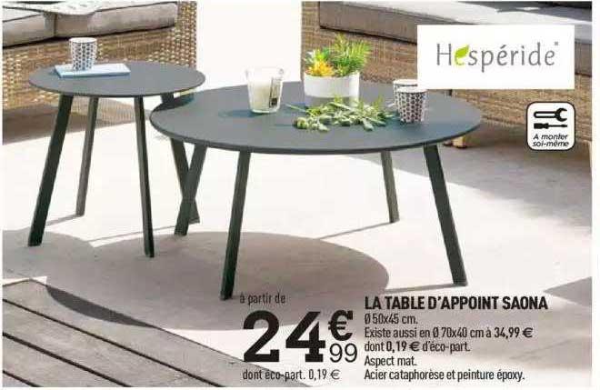 Centrakor La Table D'appoint Saona