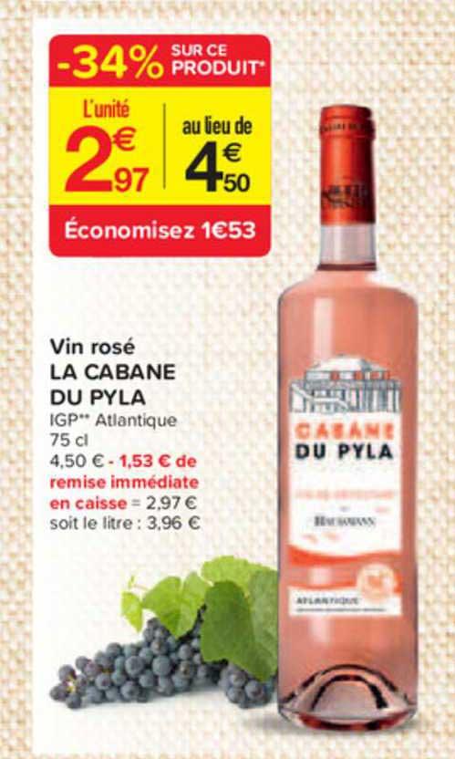 Carrefour Contact Vin Rosé La Cabane Du Pyla