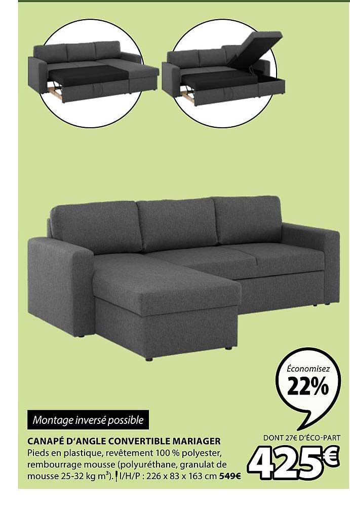 JYSK Canapé D'angle Convertible Mariager