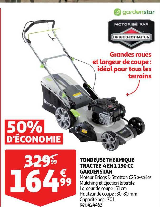 Auchan Tondeuse Thermique Tractée 4 En 1150 Cc Gardenstar