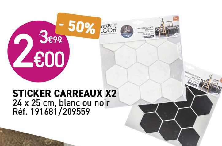 KANDY Sticker Carreaux X2