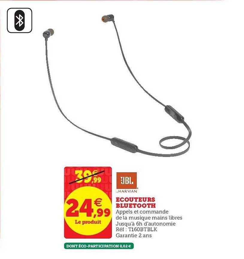 Super U écouteurs Bluetooth Jbl
