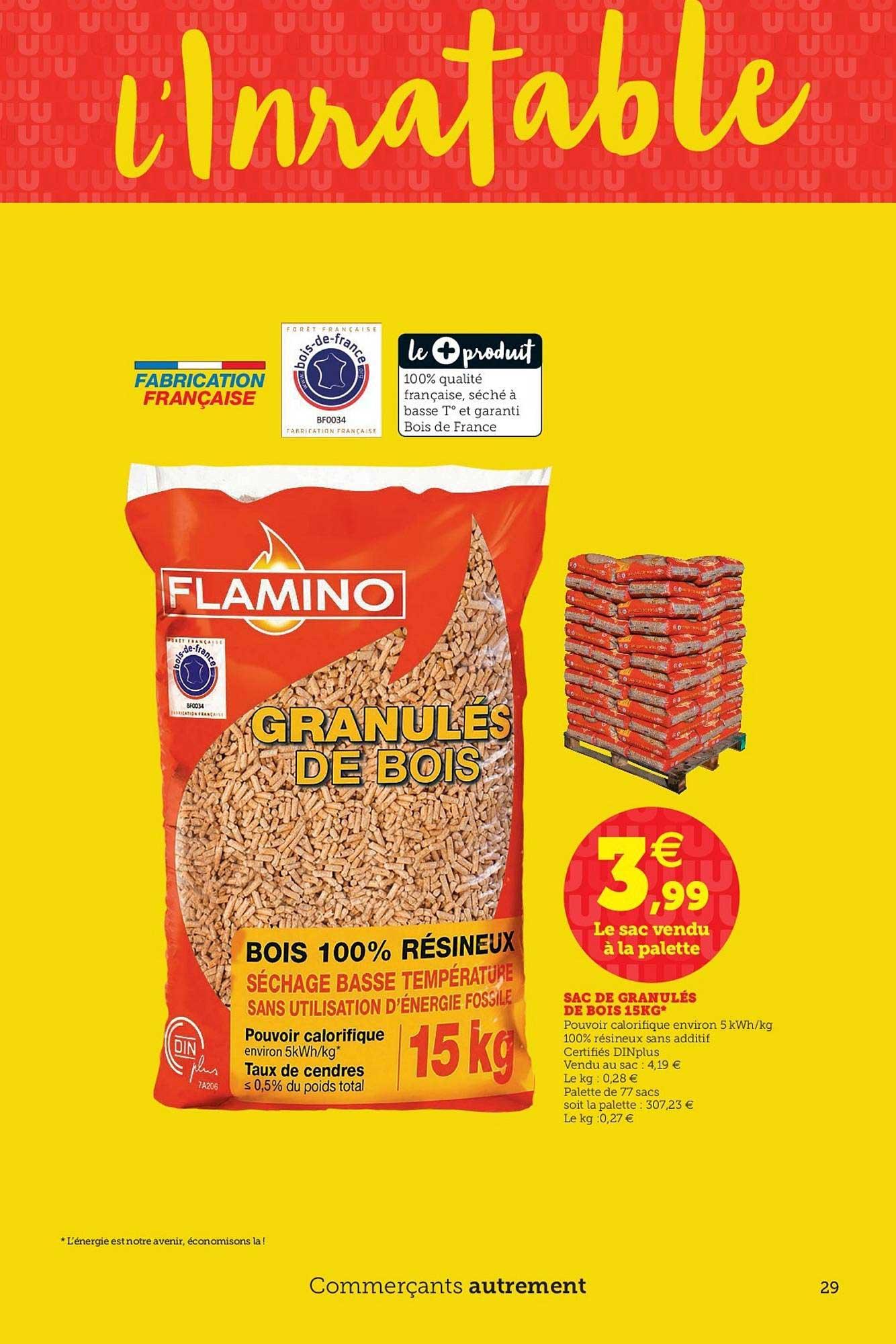 Super U Granulés De Bois Sac De 15 Kg