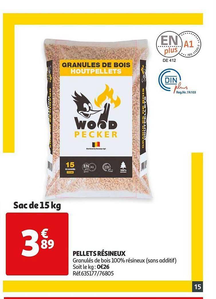 Auchan Pellets Résineux Wood Pecker