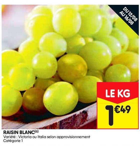 Leader Price Raisin Blanc