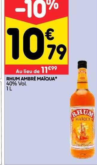 Leader Price Rhum Ambré Maïqua