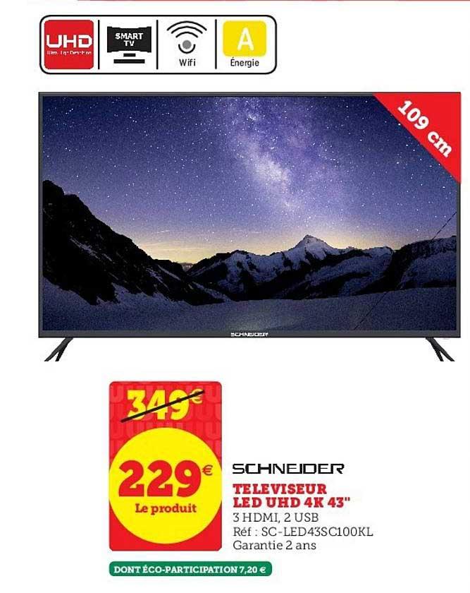 Super U Téléviseur 43