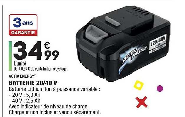 Aldi Batterie 20 40 V Activ Energy