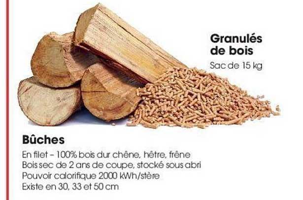 Brico Pro Bûches Granulés Bois
