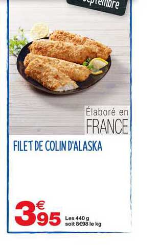Grand Frais Filet De Colin D'alaska
