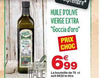 Grand Frais Huile D'olive Vierge Extra Goccia D'oro