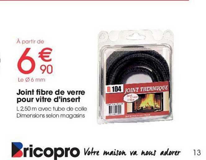 Brico Pro Joint Fibre De Verre Pour Vitre D'insert
