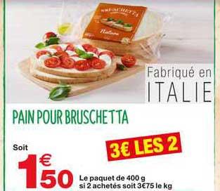Grand Frais Pain Pour Bruschetta