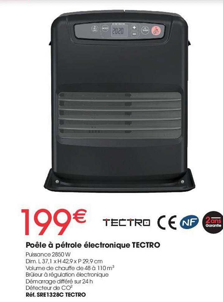 Brico Pro Poêle à Pétrole électronique Tectro