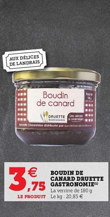 Hyper U Boudin De Canard Druette Gastronomie