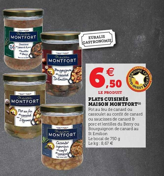 Hyper U Plats Cuisinés Maison Montfort
