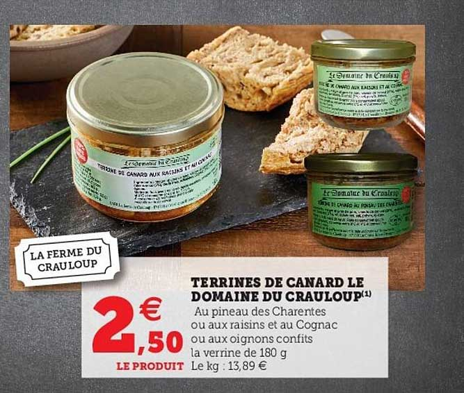Hyper U Terrines De Canard Le Domaine Du Crauloup