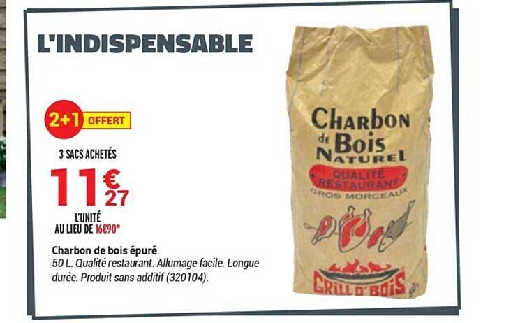 Bricorama Charbon De Bois épuré 2+1 Offert