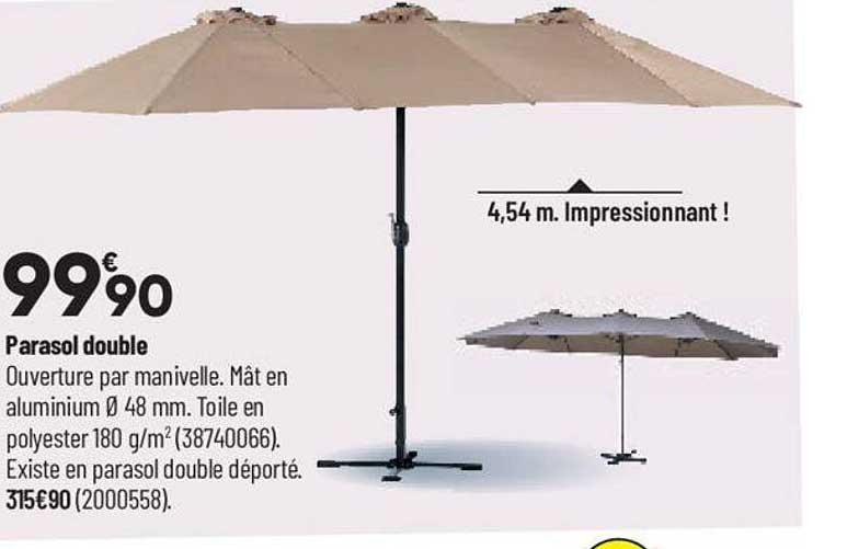 Bricorama Parasol Double