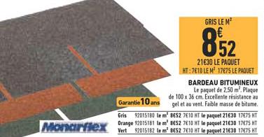 Brico Cash Bardeau Bitumineux Monarflex