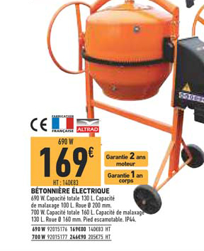 Brico Cash Bétonnière électrique