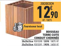 Brico Cash Boisseau Terre Cuite Conduit Cheminée