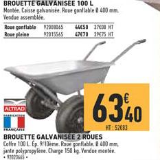 Offre Brouette Galvanisee 2 Roues Chez Brico Cash