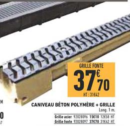 Brico Cash Caniveau Béton Polymère + Grille