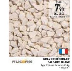 Brico Cash Gravier Décoratif Calcaire Blanc