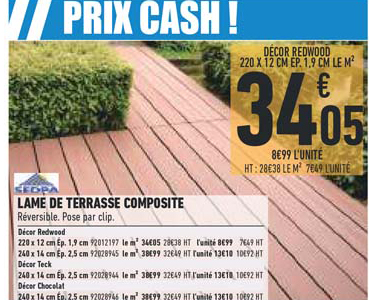 Brico Cash Lame De Terrasse Composite