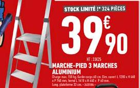Offre Marche Pied 3 Marches Aluminium Chez Brico Cash