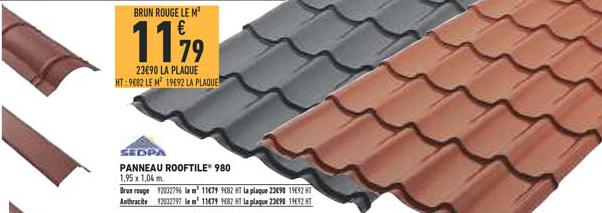 Brico Cash Panneau Rooftile 980