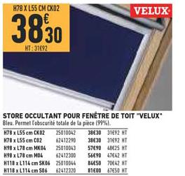 Brico Cash Store Occultant Pour Fenêtre De Toit Velux