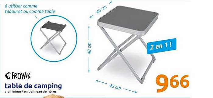 Action Table De Camping