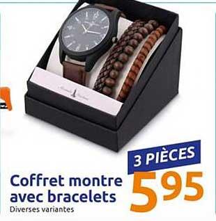 Action Coffret Montre Avec Bracelets