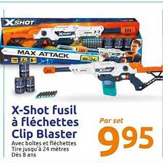 Action X-shot Fusil à Fléchettes Clip Blaster