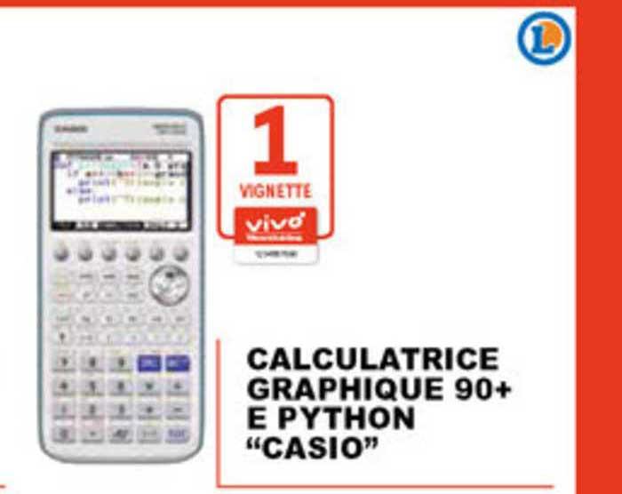 E.Leclerc Calculatrice Graphique 90+ E Python Casio