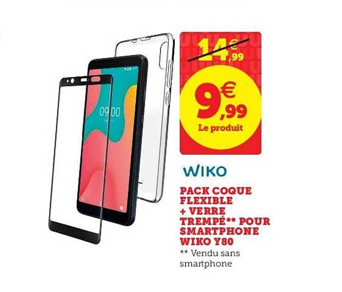 Offre Pack Coque Flexible Verre Trempé Pour Smartphone Wiko Y80 ...