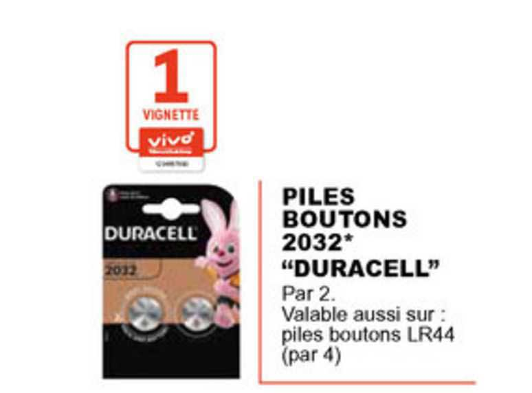 E.Leclerc Piles Boutons 2032 Duracell