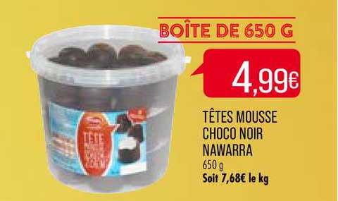 Match Têtes Mousse Choco Noir Nawarra