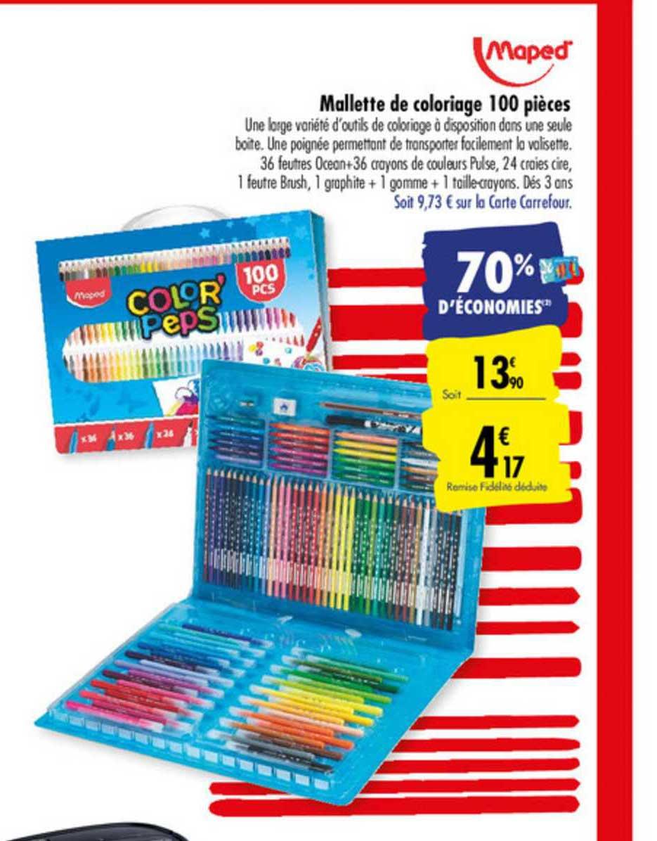 Offre Mallette De Coloriage 100 Pieces Maped Chez Carrefour Market